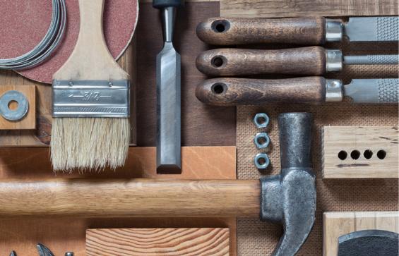 Various woodworking, repairing, DIY tools.